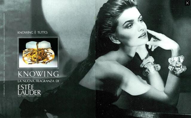 Kampania perfum Knowing z 1990 roku
