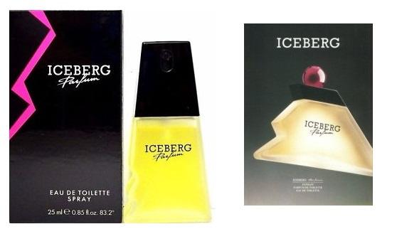 Iceberg Parfum 25 mL oraz grafika z kampanii (1989)