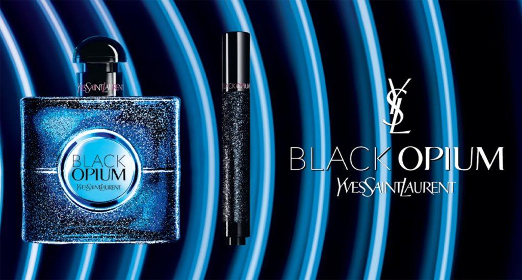 Oficjalna grafika promująca perfumy Black Opium Intense