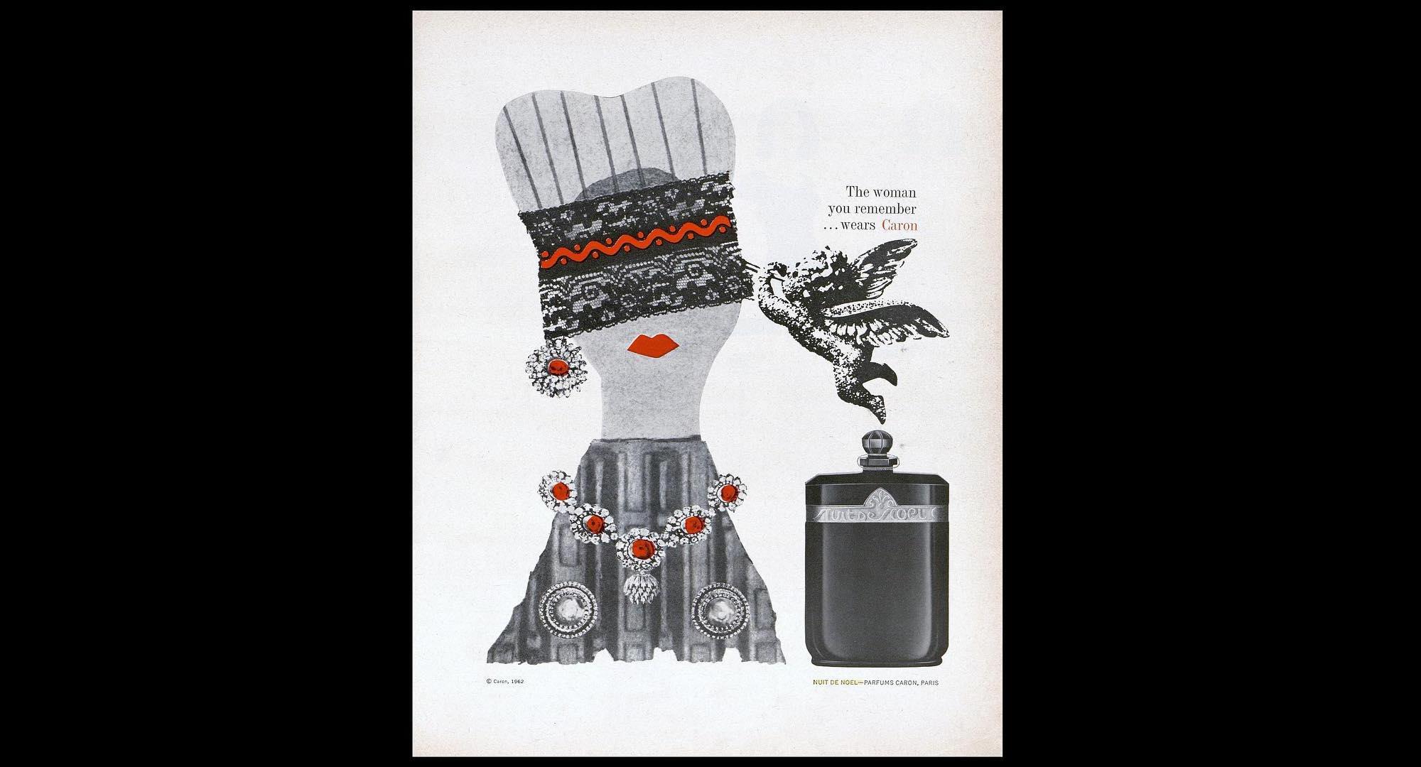 Caron Nuit de Noel - reklama z 1962 roku