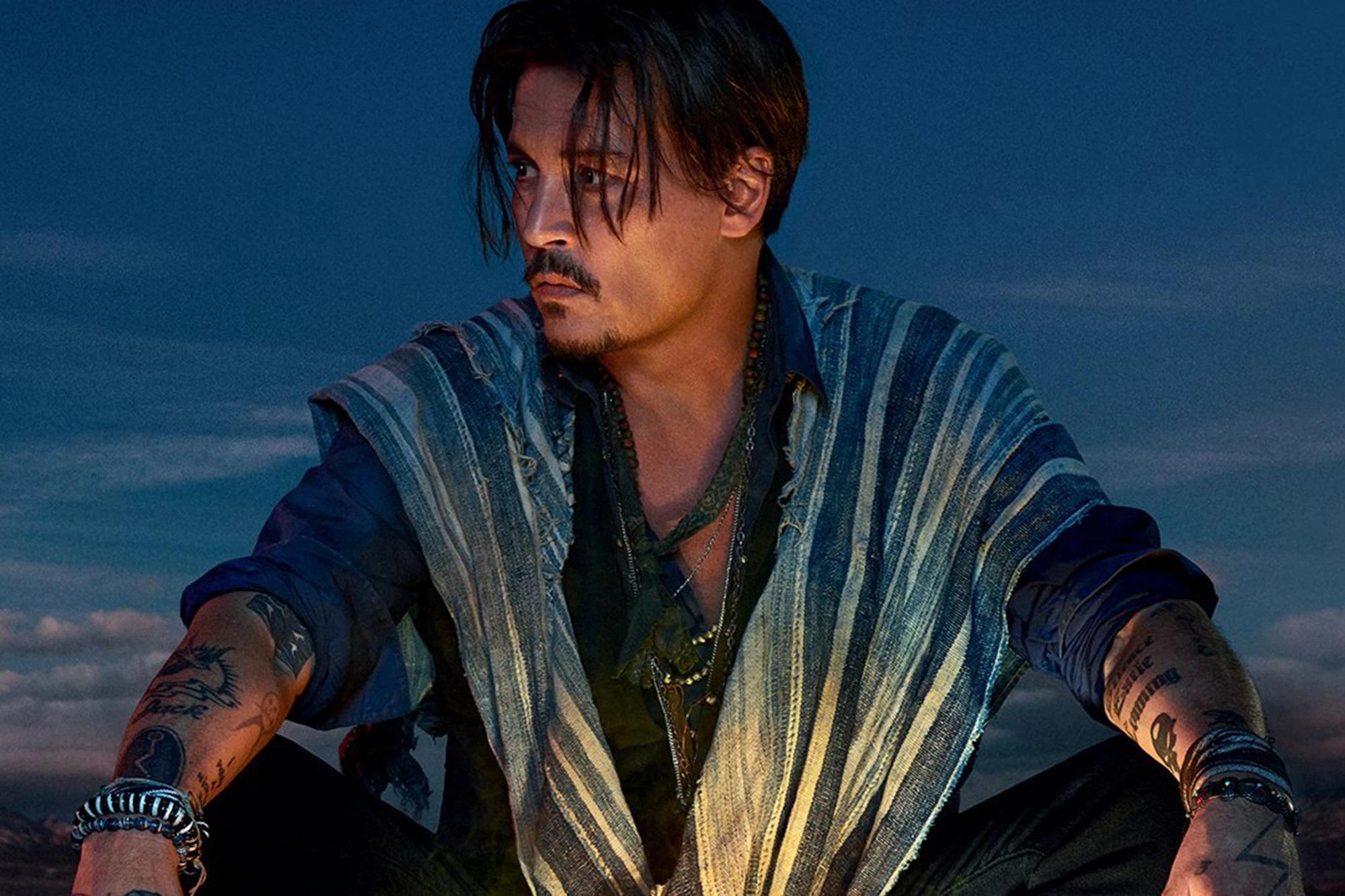 Johnny Depp w kampanii Sauvage Parfum