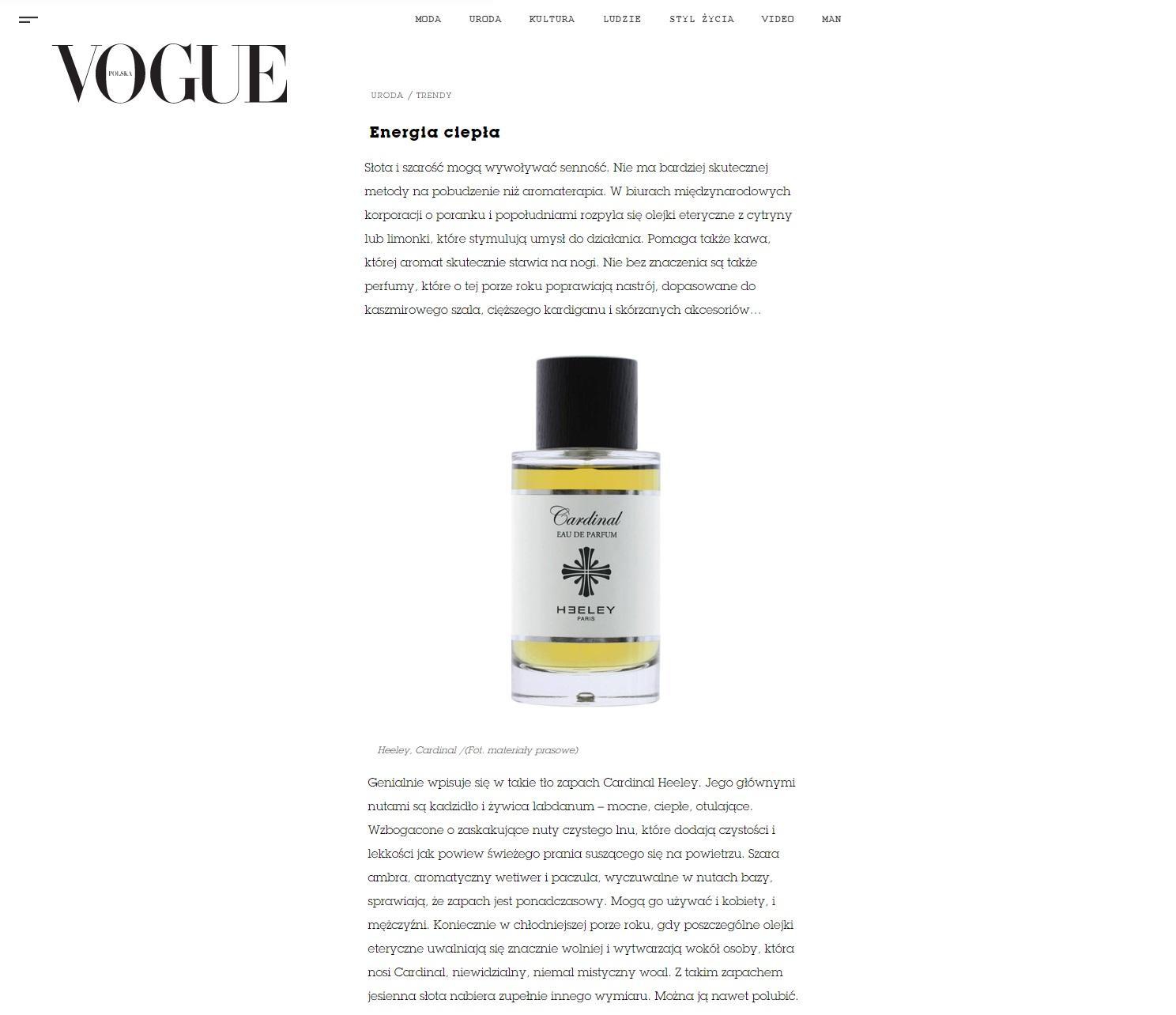 Heeley Cardinal w Vogue Polska