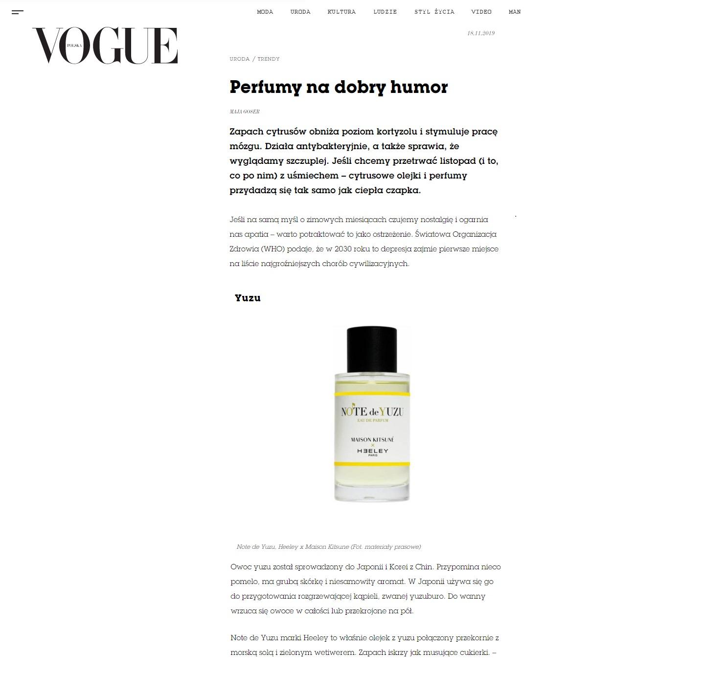 Note de Yuzu w Vogue Polska