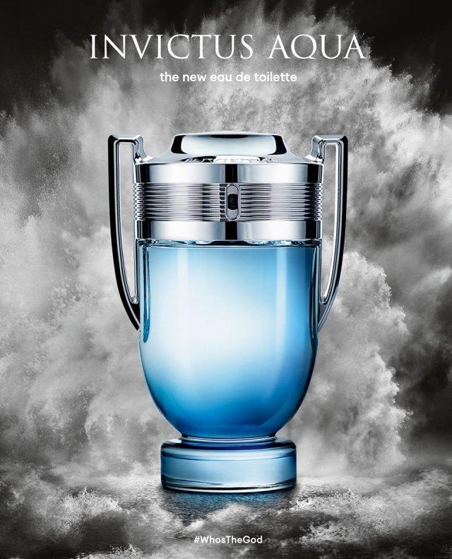 Reklama perfum Paco Rabanne Invictus Aqua 2018