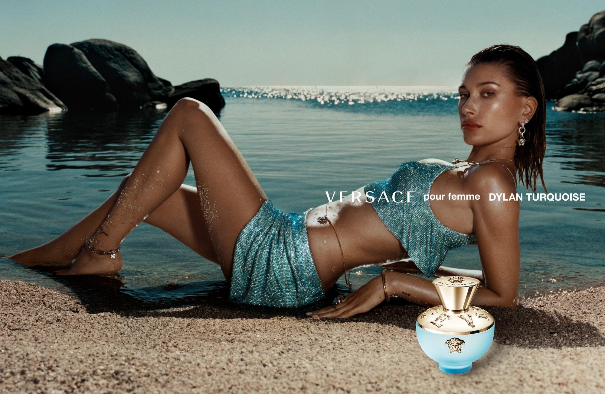 Bella Hadid dla Versace Dylan Turquoise